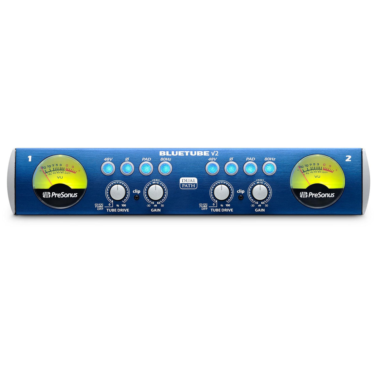 PreSonus BlueTube DP V2 Stereo Mic Preamp Bundle with 2 XLR & 2 TRS Cables