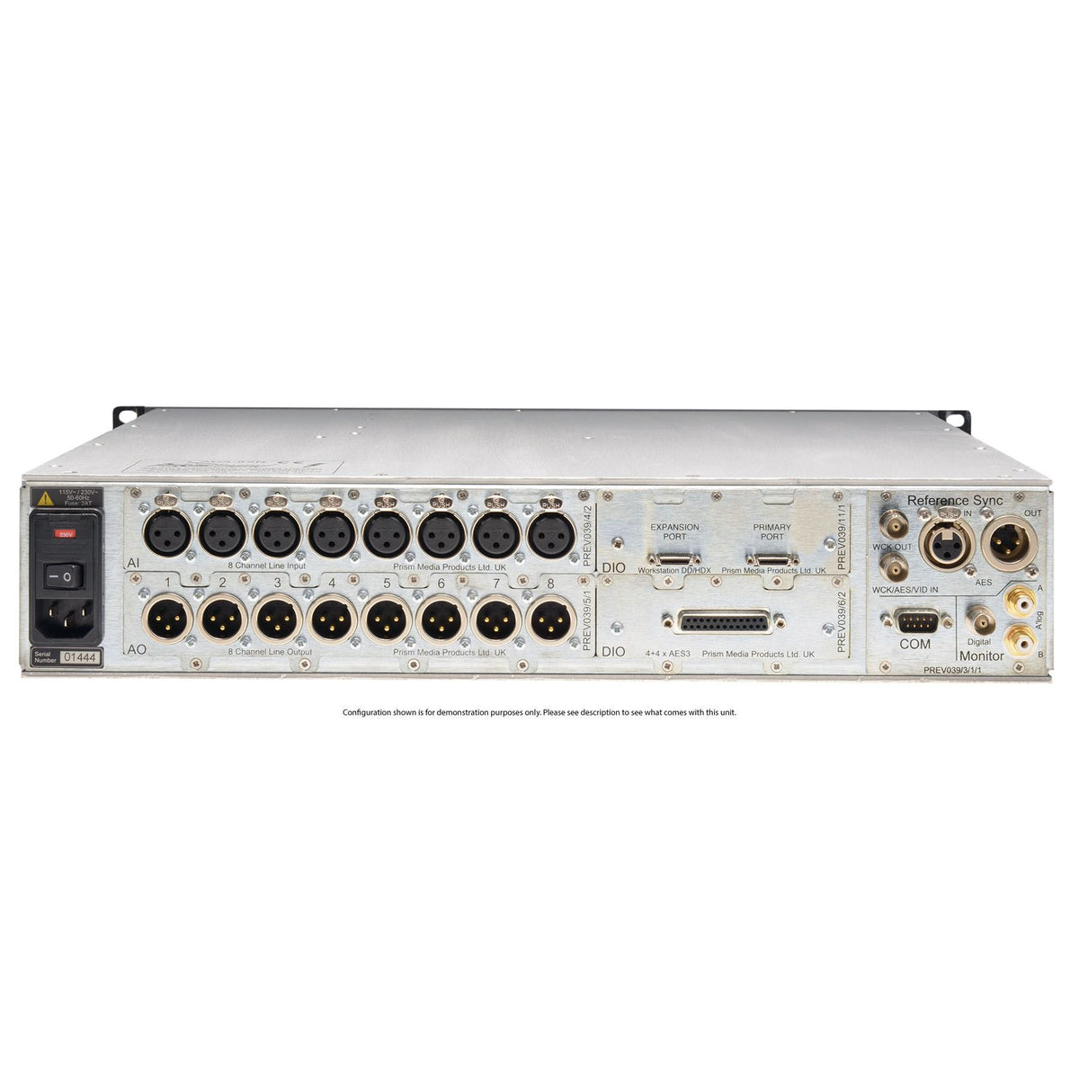Prism Audio Dream Series ADA-8XR with 16 channels of AD Conversion and Firewire Digital I/O Card