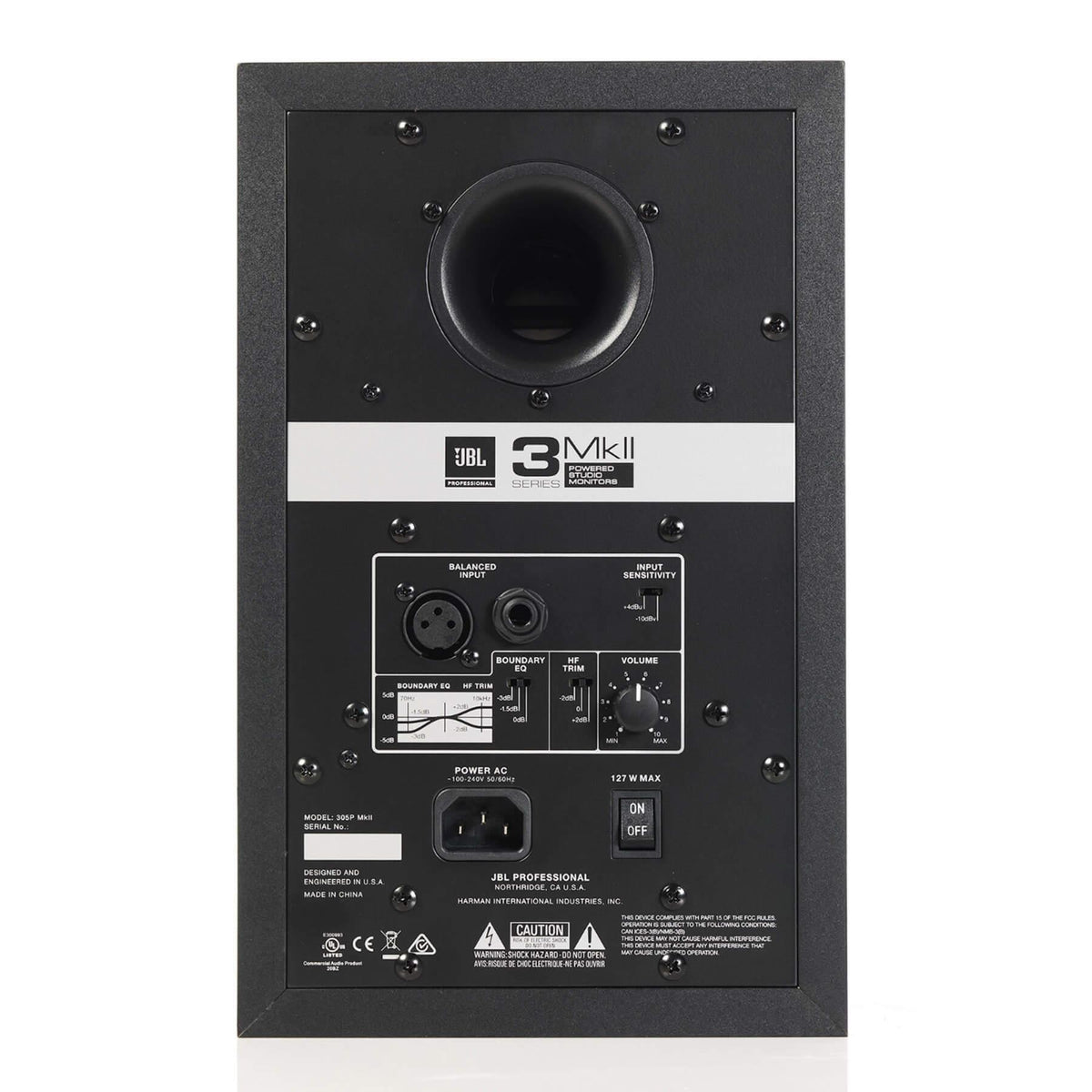 "JBL 305P MKII 5"" Powered 2-Way Reference Studio Monitor - Single Speaker"