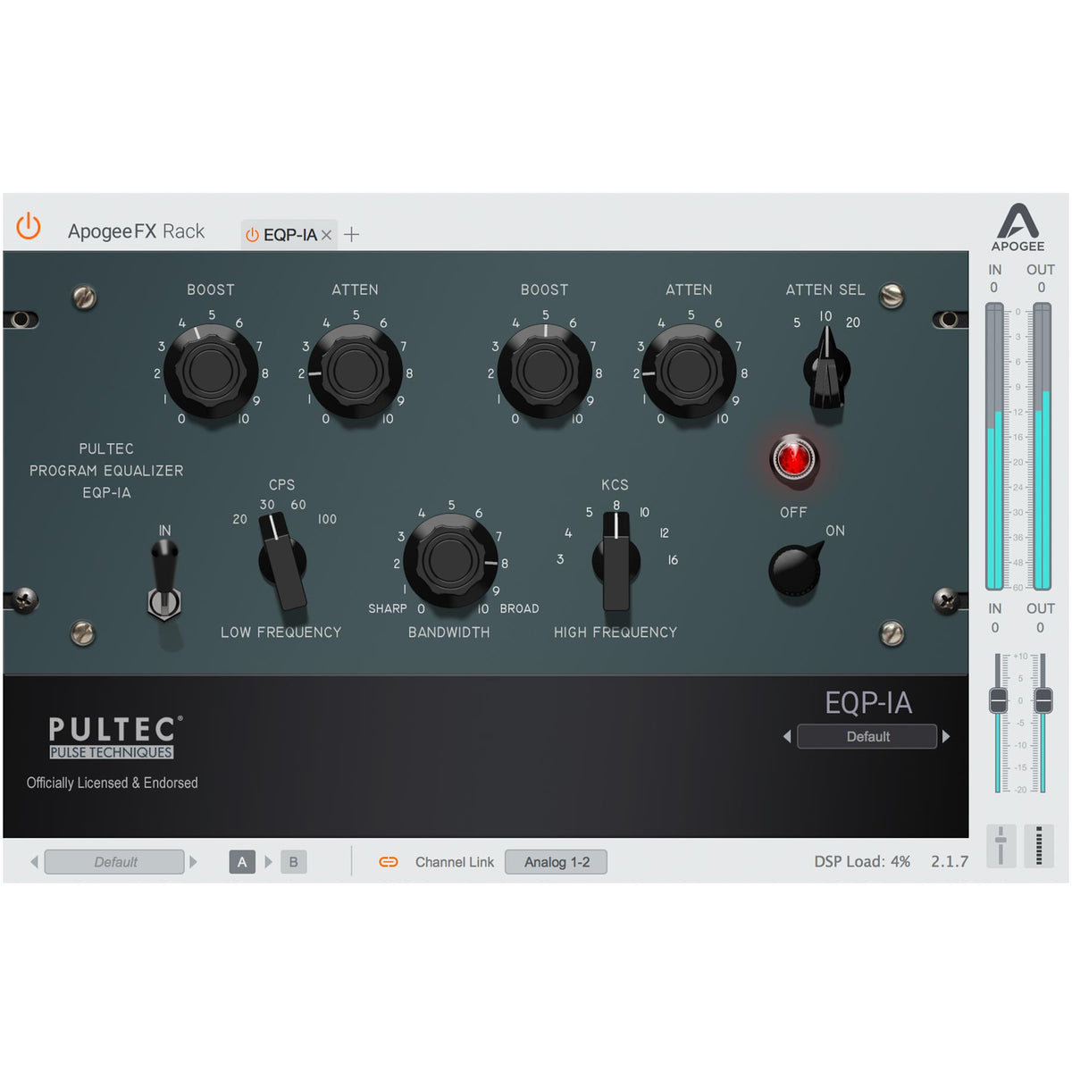 Apogee EQP-1A Program Equalizer Perpetual License (Digital Download)