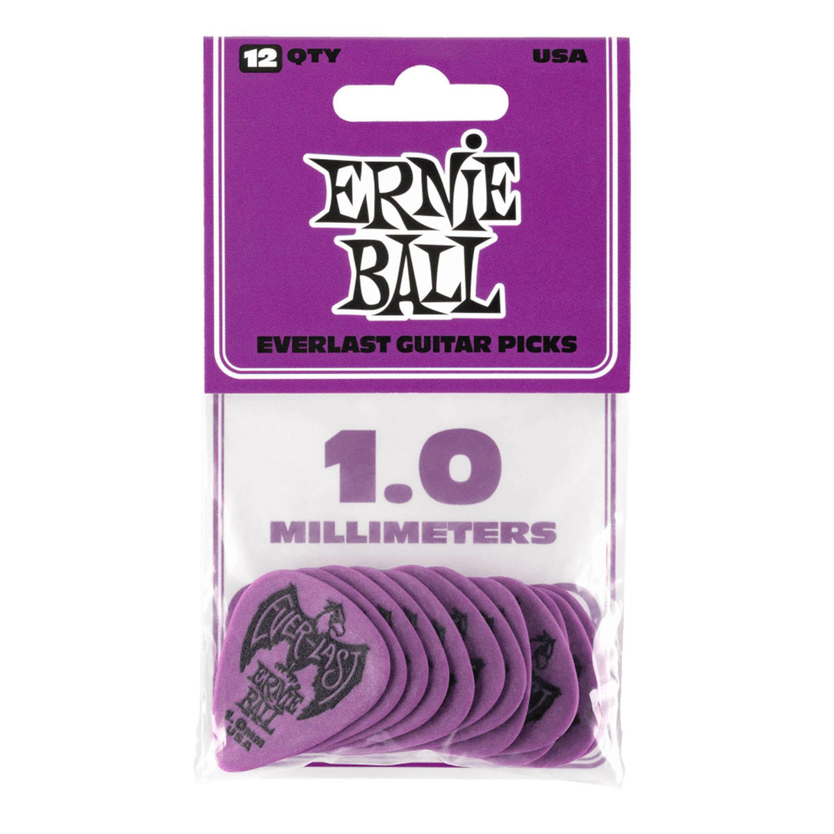 Ernie Ball P09193 Purple 1.0mm Everlast Guitar Picks - 12-pack