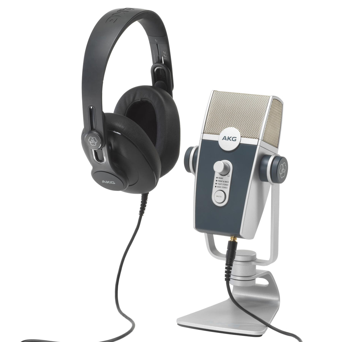 AKG Podcaster Bundle w/ Lyra USB Microphone and K371 Closed Back Headphones