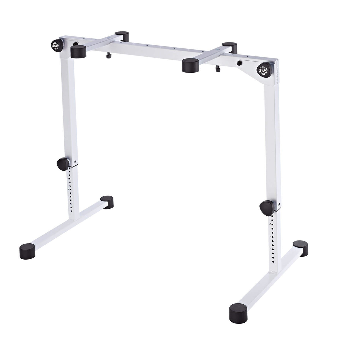 K&M 18820 Pure White Omega Pro Table-style Keyboard Stand with Folding Legs