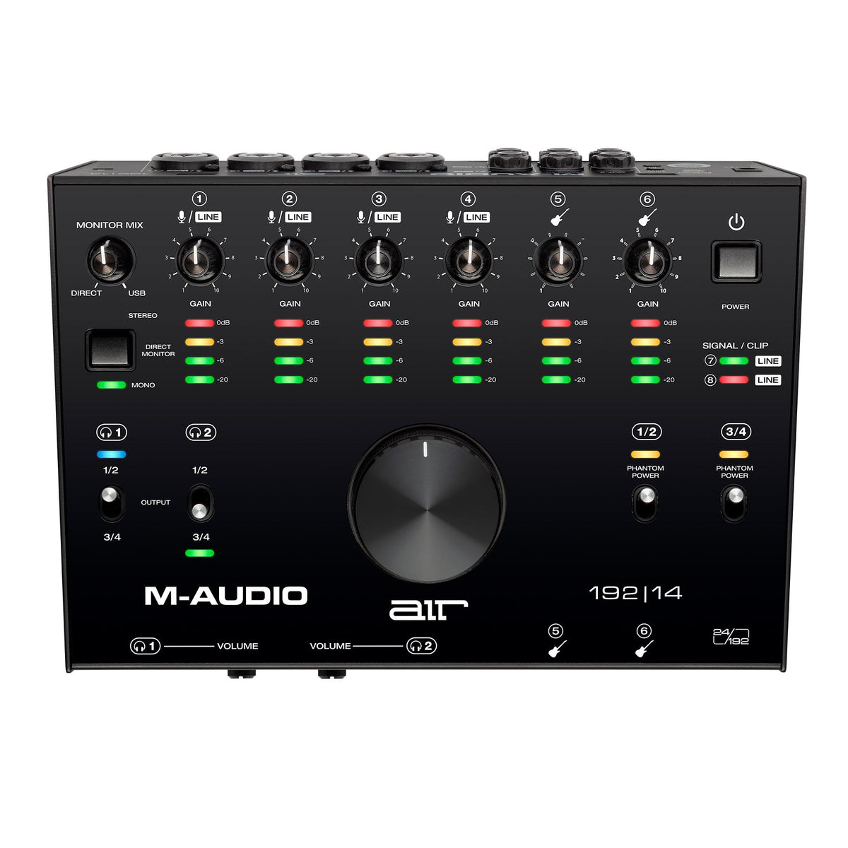 M-Audio Air 192|14 8-In/4-Out 24/192 USB-C Audio/MIDI Interface with ProTools|First and Ableton Live Lite