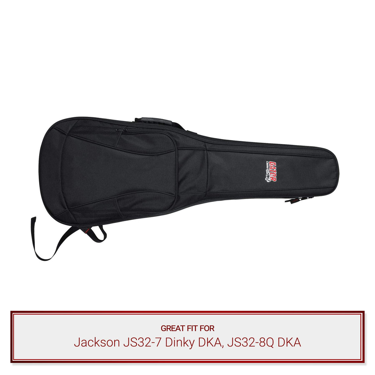 Gator Electric Guitar Backpack Gig Bag for Jackson JS32-7 Dinky DKA, JS32-8Q DKA Guitars