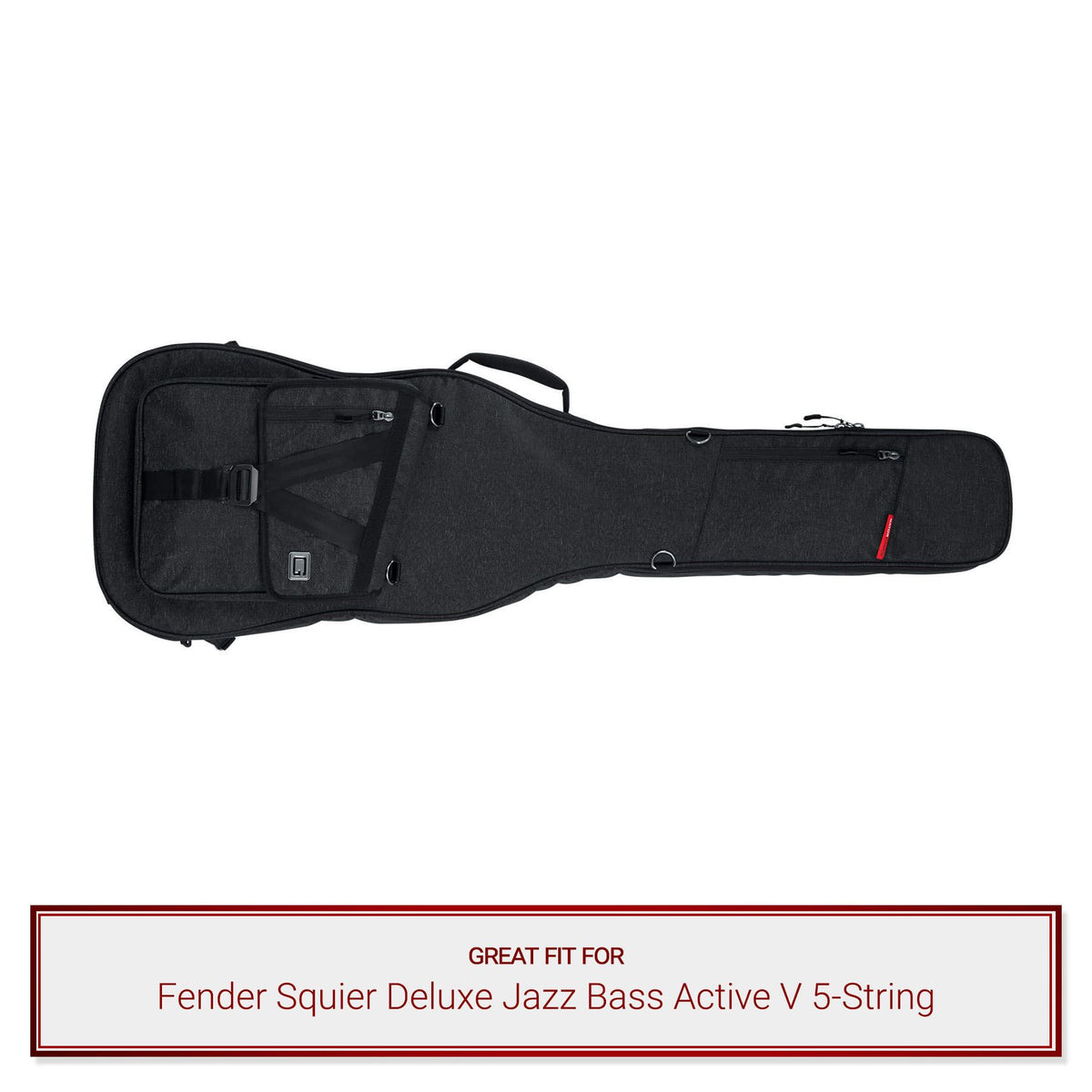 Gator Bass Guitar Case for Fender Squier Deluxe Jazz Bass Active V 5-String
