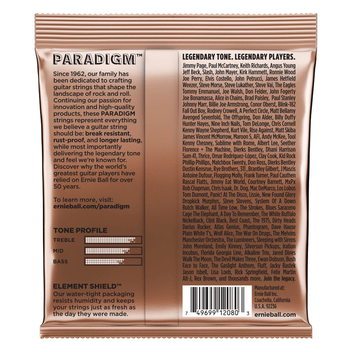 Ernie Ball P02080 Paradigm Extra Light Phosphor Bronze Acoustic Guitar Strings