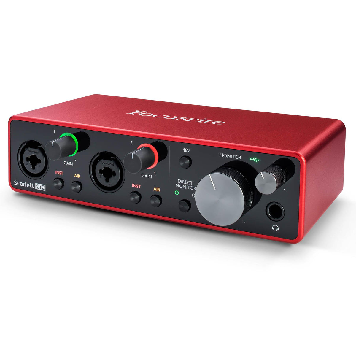 Focusrite Scarlett 2i2 Studio (3rd Gen) USB Audio Interface Recording Package