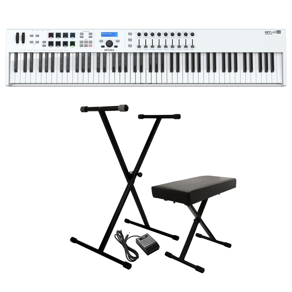 Arturia Keylab 88 Essential Keyboard Controller Bundle with Keyboard Pack