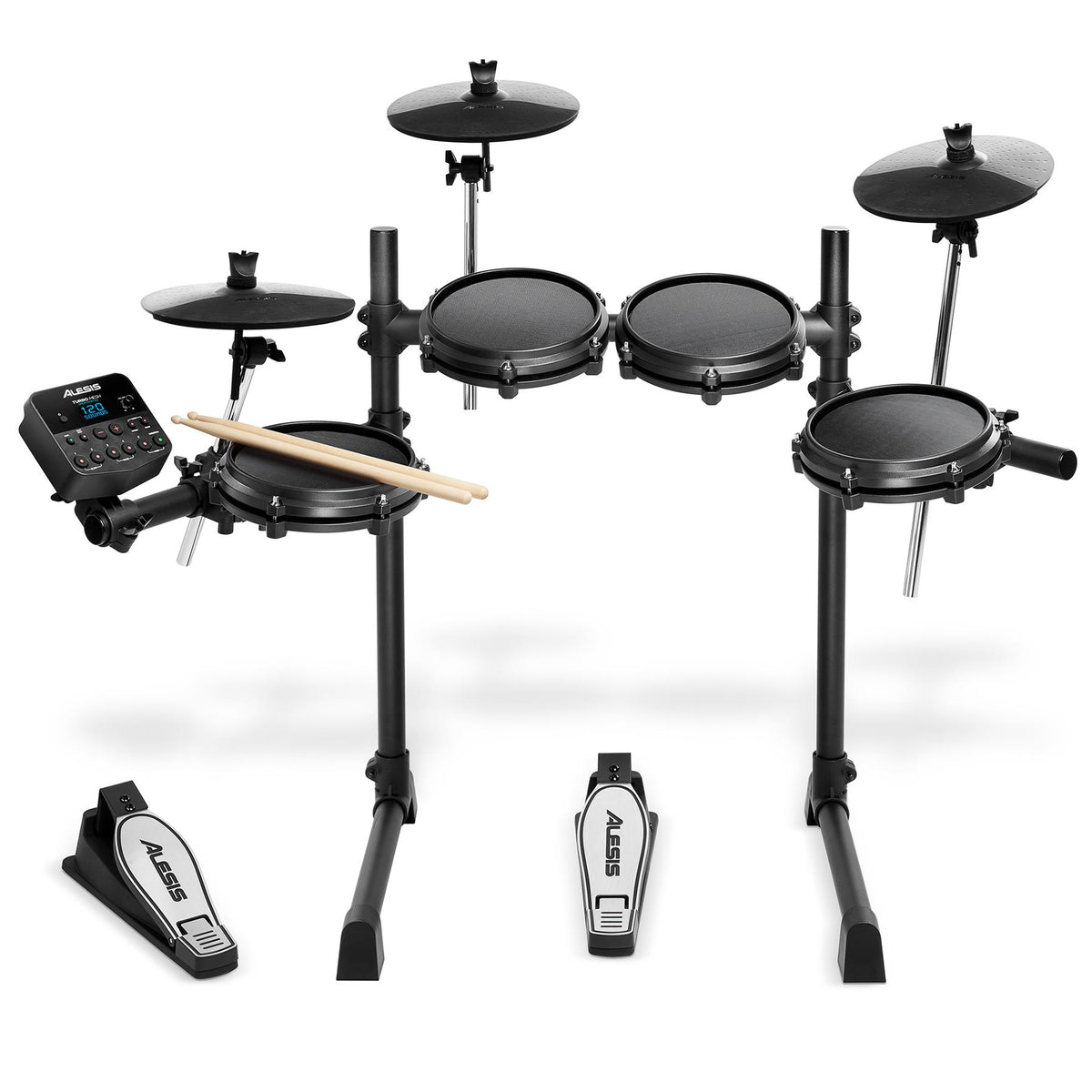 Alesis Turbo Mesh Kit 7-piece Electronic Drum Set with Mesh Heads