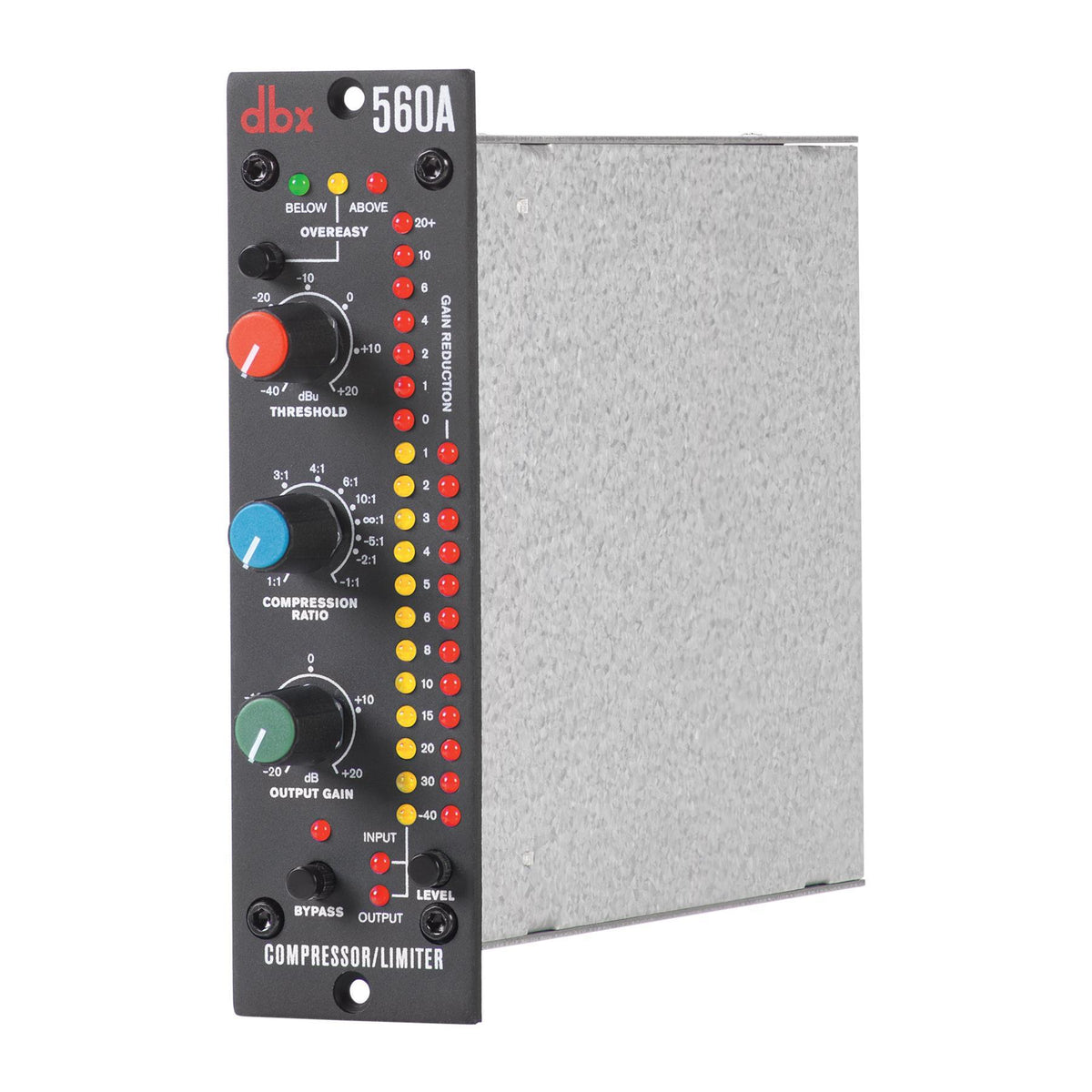 "DBX 560A 500-Series Compressor/Limiter Bundle with 2 5-Foot 1/4"" TRS Cables"