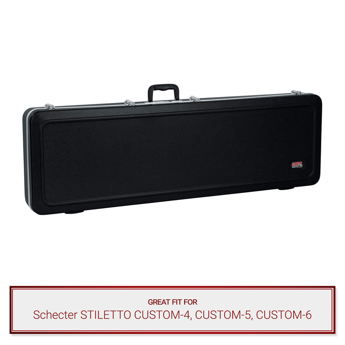 Gator Bass Guitar Case fits Schecter STILETTO CUSTOM-4, CUSTOM-5, CUSTOM-6