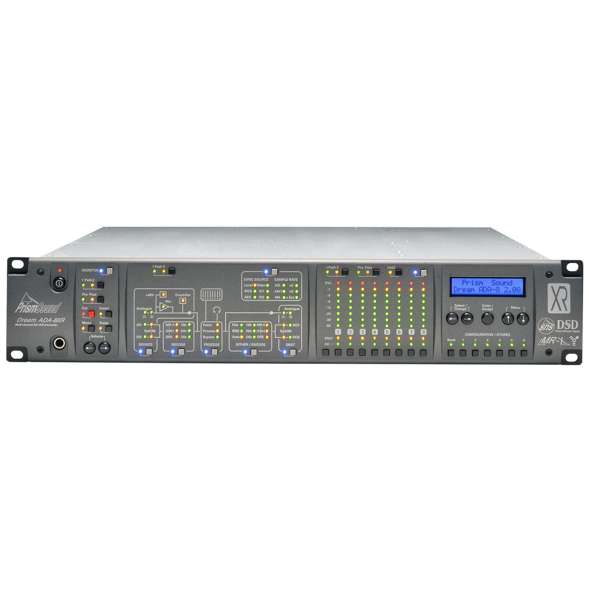 Prism Audio Dream Series ADA-8XR with 16 Channels of DA Conversion and PTHDX Digital I/O Card