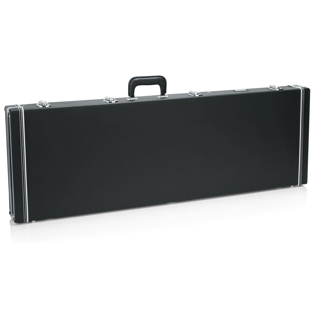 Gator Cases Deluxe Wood Case for Fender Squier Vintage Modified Fretless Jazz Bass Guitars