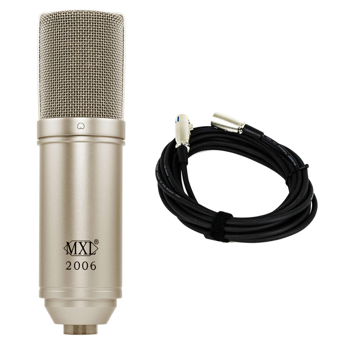 MXL 2006 Microphone Bundle with 20-foot XLR Cable