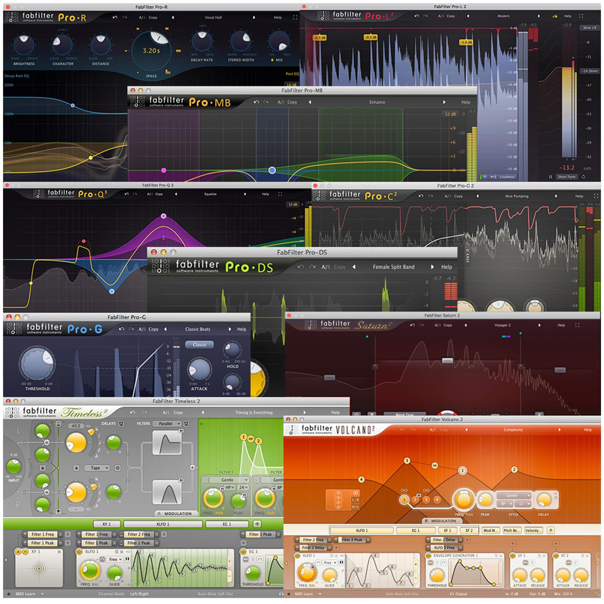 FabFilter FX Bundle - 2020 Release (Digital Download)