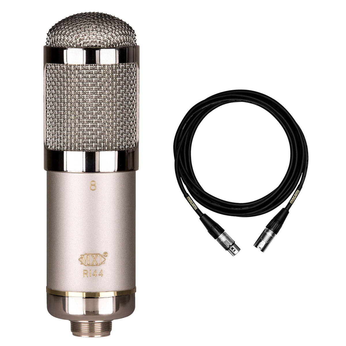 MXL R144 HE Microphone Bundle with Premium 15-foot XLR Mogami Cable
