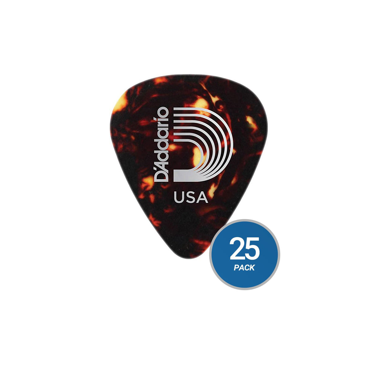 Planet Waves 1CSH4 Shell Color Celluloid Medium Guitar Picks - 25-Pack