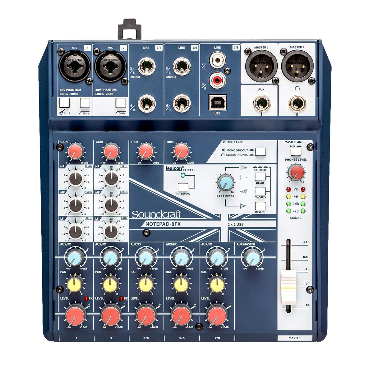 Soundcraft Notepad 8FX Mixer Bundle with 4 XLR Cables