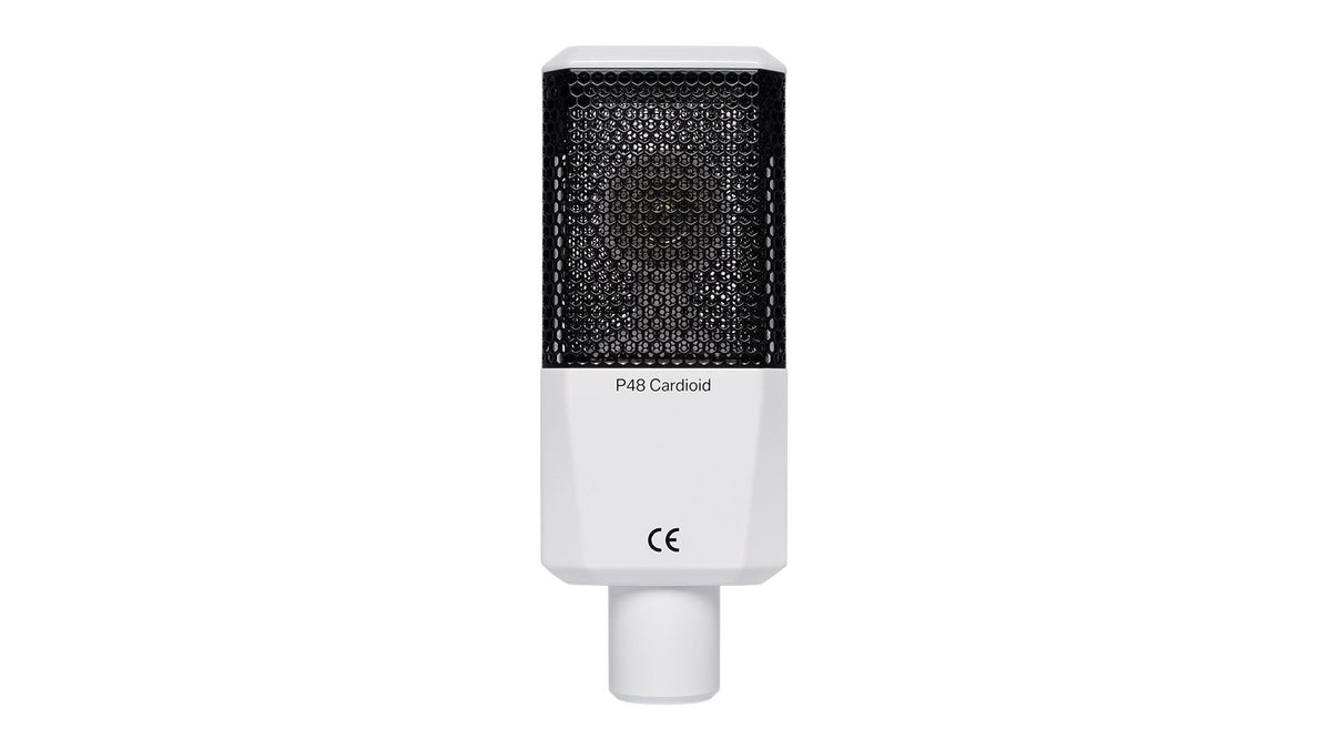 Lewitt LCT-240 Pro White Microphone Bundle with Premium 15-foot XLR Mogam Cable