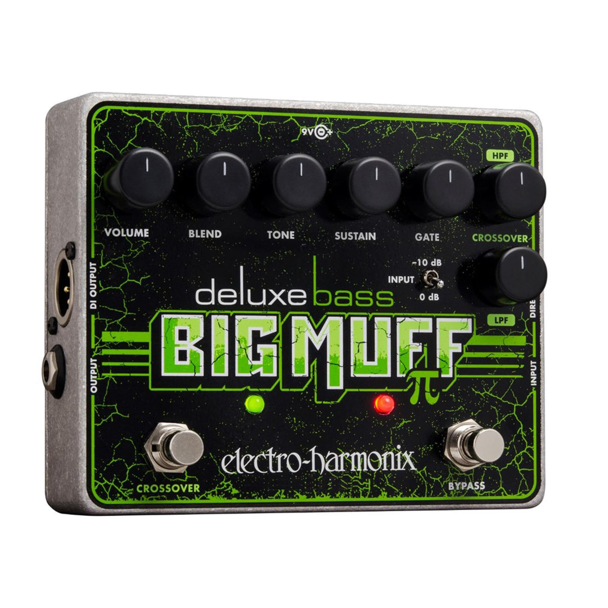 Electro-Harmonix Deluxe Bass Big Muff Pi Distortion/Sustainer Guitar Effects Pedal with Battery
