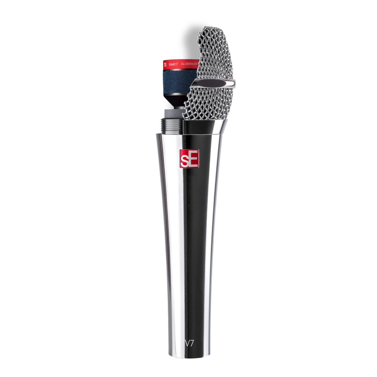 sE Electronics V7 Chrome Microphone w/ Mic Stand &20-foot XLR Cable Bundle