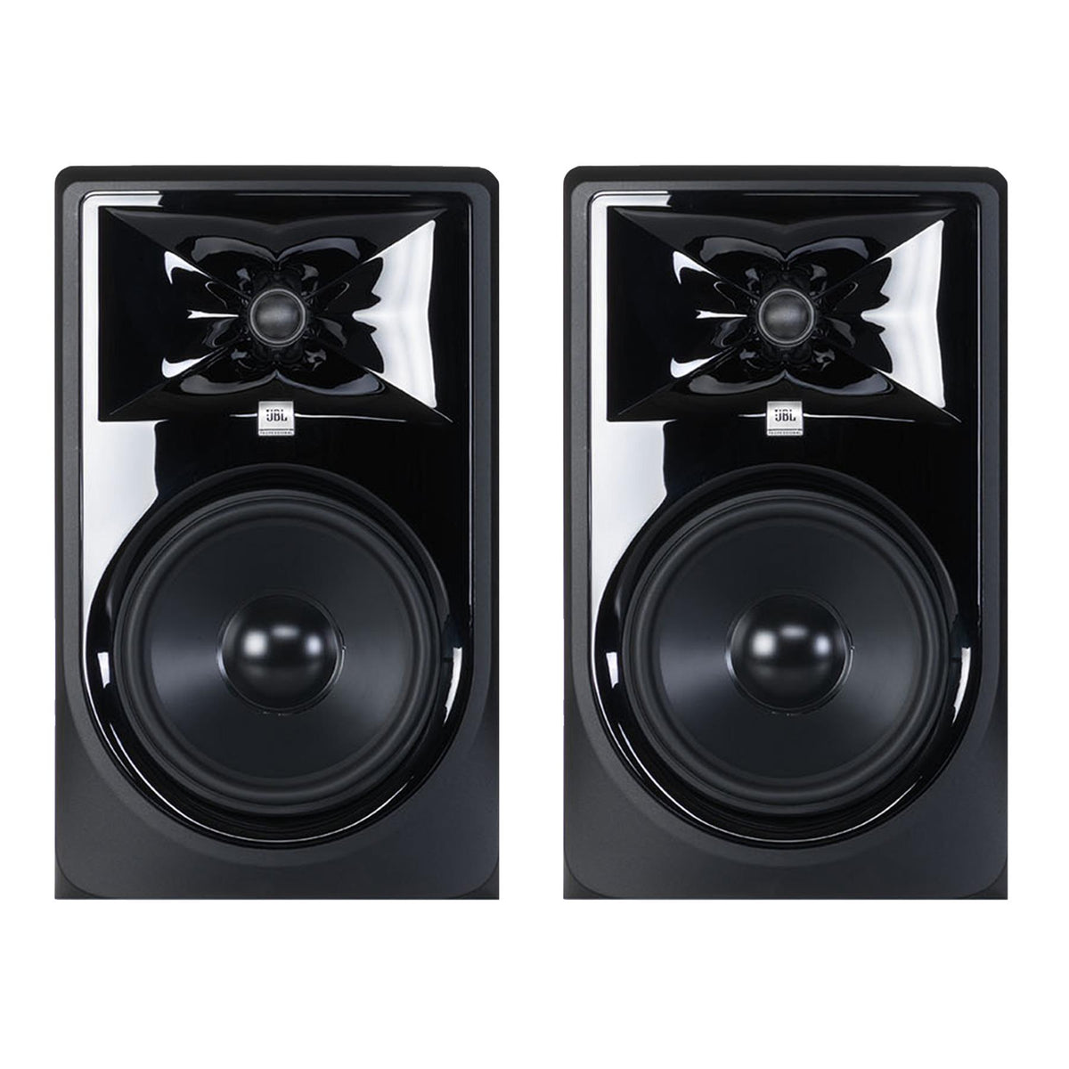 "JBL 308P MKII 8"" Stereo Pair of Powered Studio Monitors Bundle with LSR310S 10"" Subwoofer"