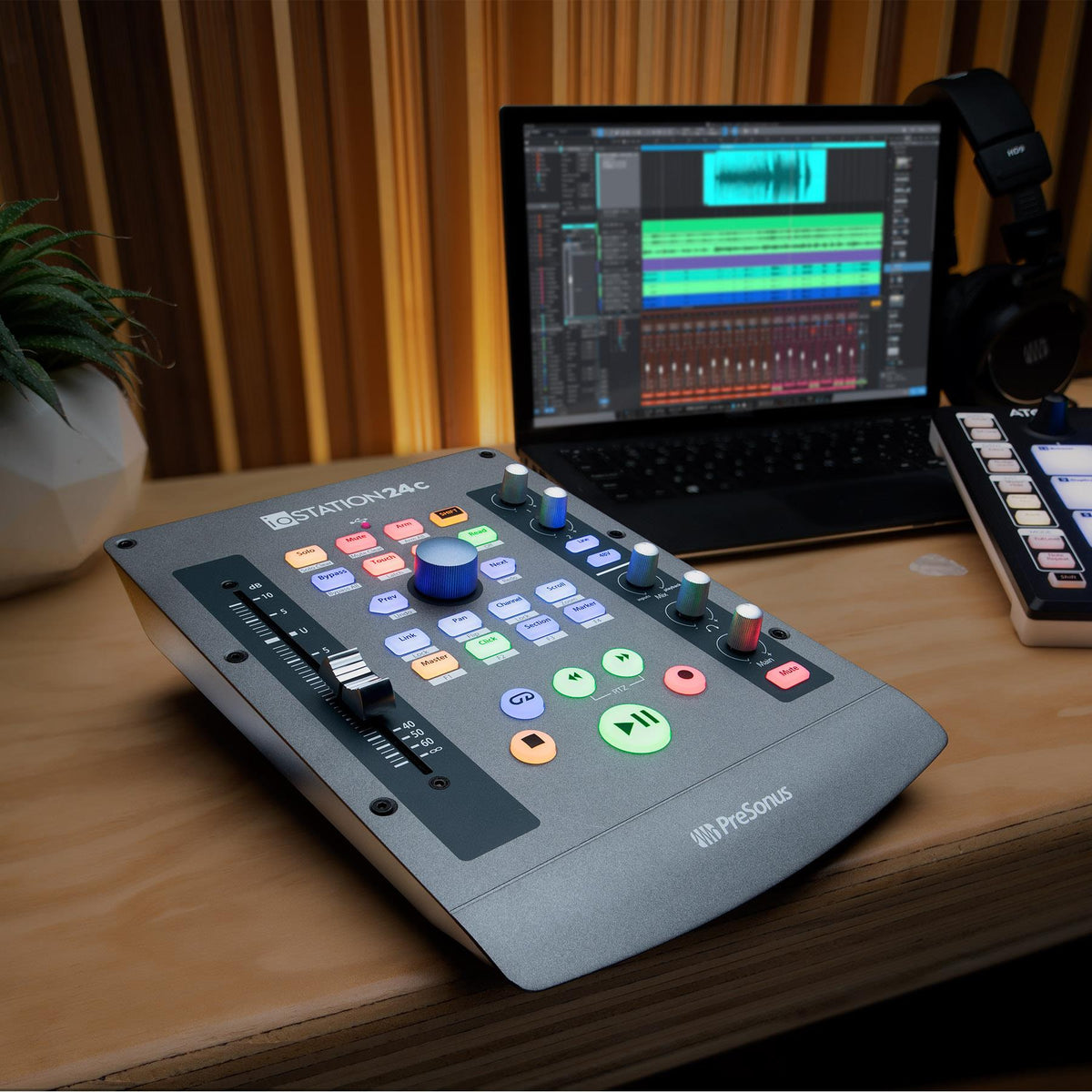PreSonus ioStation 24c 2x2 USB-C Audio Interface and Production Controller with Studio One Artist