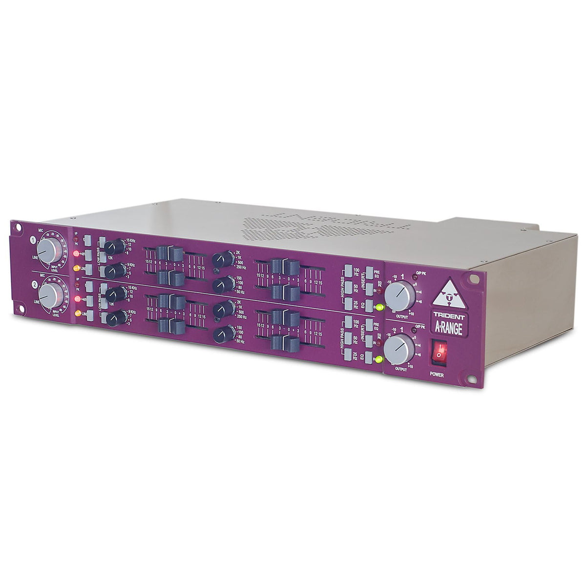 Trident Audio A-Range Dual-Channel Mic/Line Preamp and 4-Band EQ