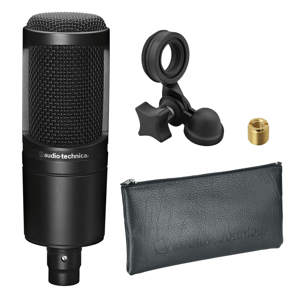 Audio-Technica AT2020PK Streaming/Podcasting Pack with ATH-M20X Headphones