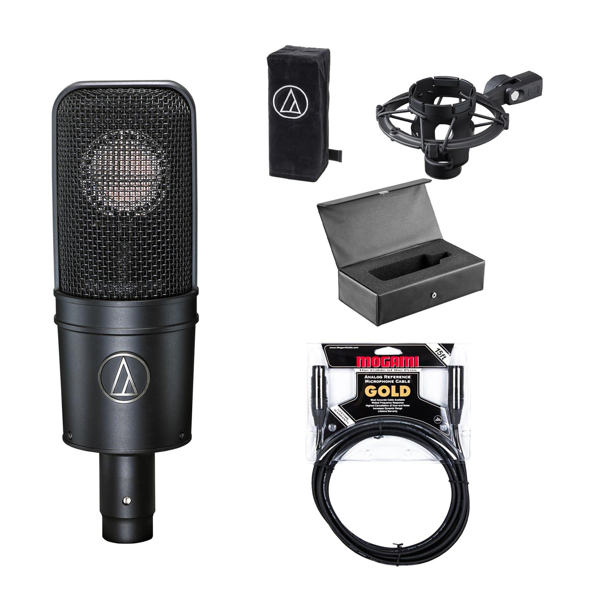 Audio-Technica AT4040 Microphone Bundle with 15ft Mogami Gold Studio XLR Cable
