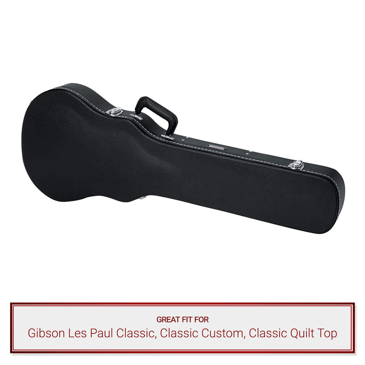 Gator Cases Deluxe Wood Case for Gibson Les Paul Classic, Classic Custom, Classic Quilt Top Guitars