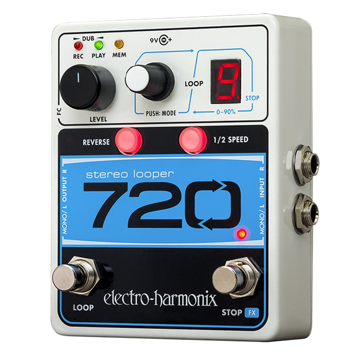 Electro-Harmonix 720 Stereo Looper Guitar Effects Pedal with Power Supply