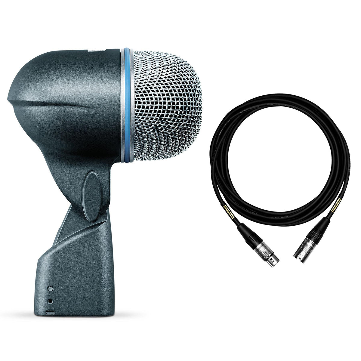 Shure Beta 52A Microphone Bundle with Premium 15-foot XLR Mogami Cable