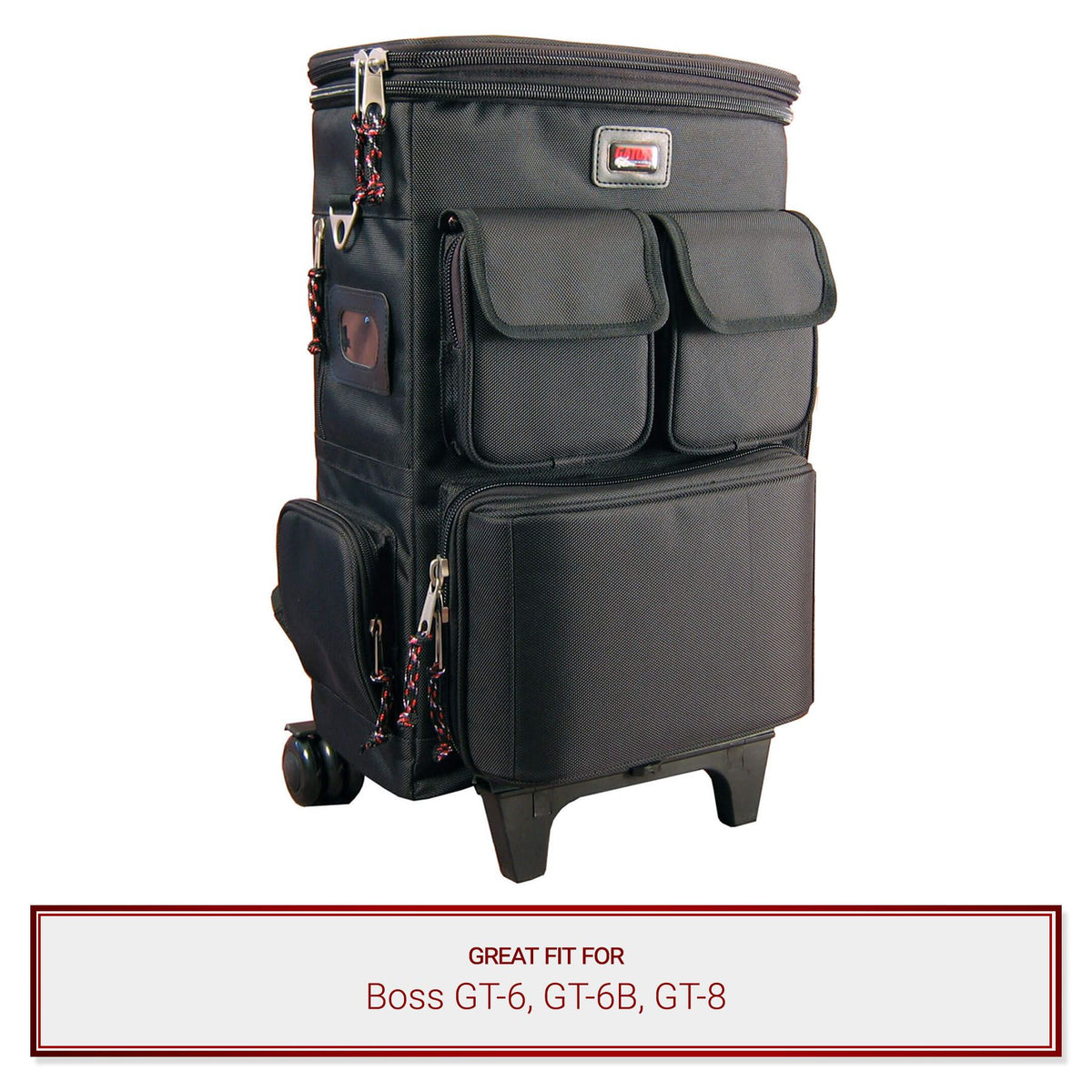 Gator Cases Gear & Laptop Backpack fits Boss GT-6, GT-6B, GT-8