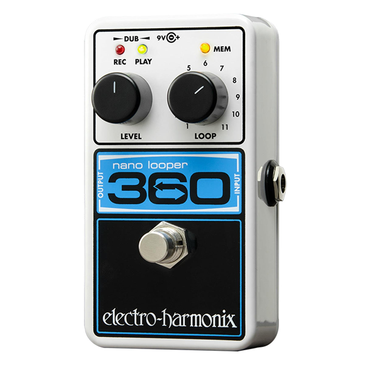Electro-Harmonix Nano Looper 360 Guitar Effects Pedal with Power Supply