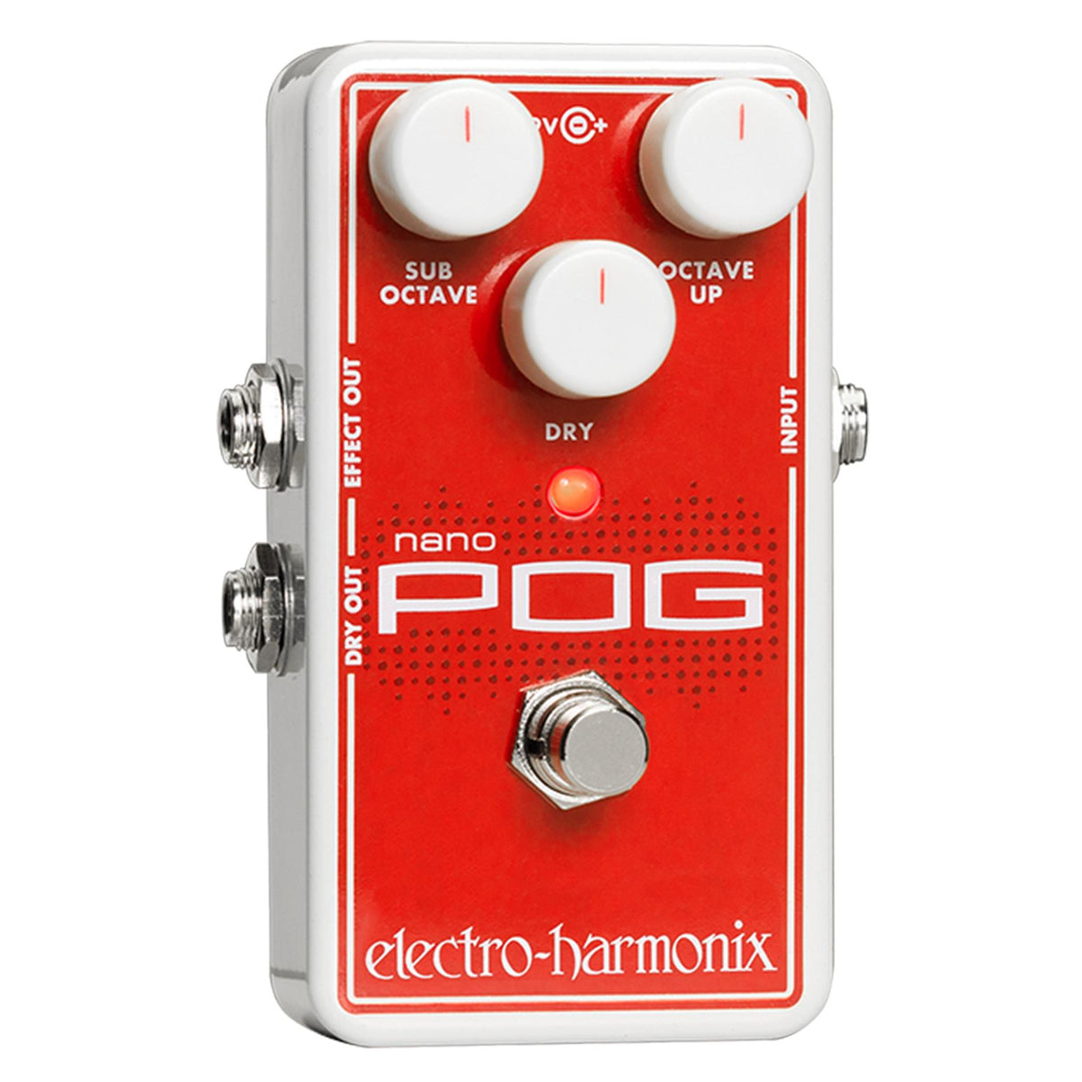 Electro-Harmonix Nano Pog Polyphonic Octave Generator Guitar Effects Pedal with 9.6V Power Supply