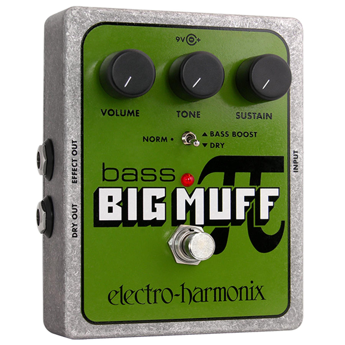 Electro-Harmonix Bass Big Muff Pi Distortion/Sustainer Guitar Effects Pedal with Battery
