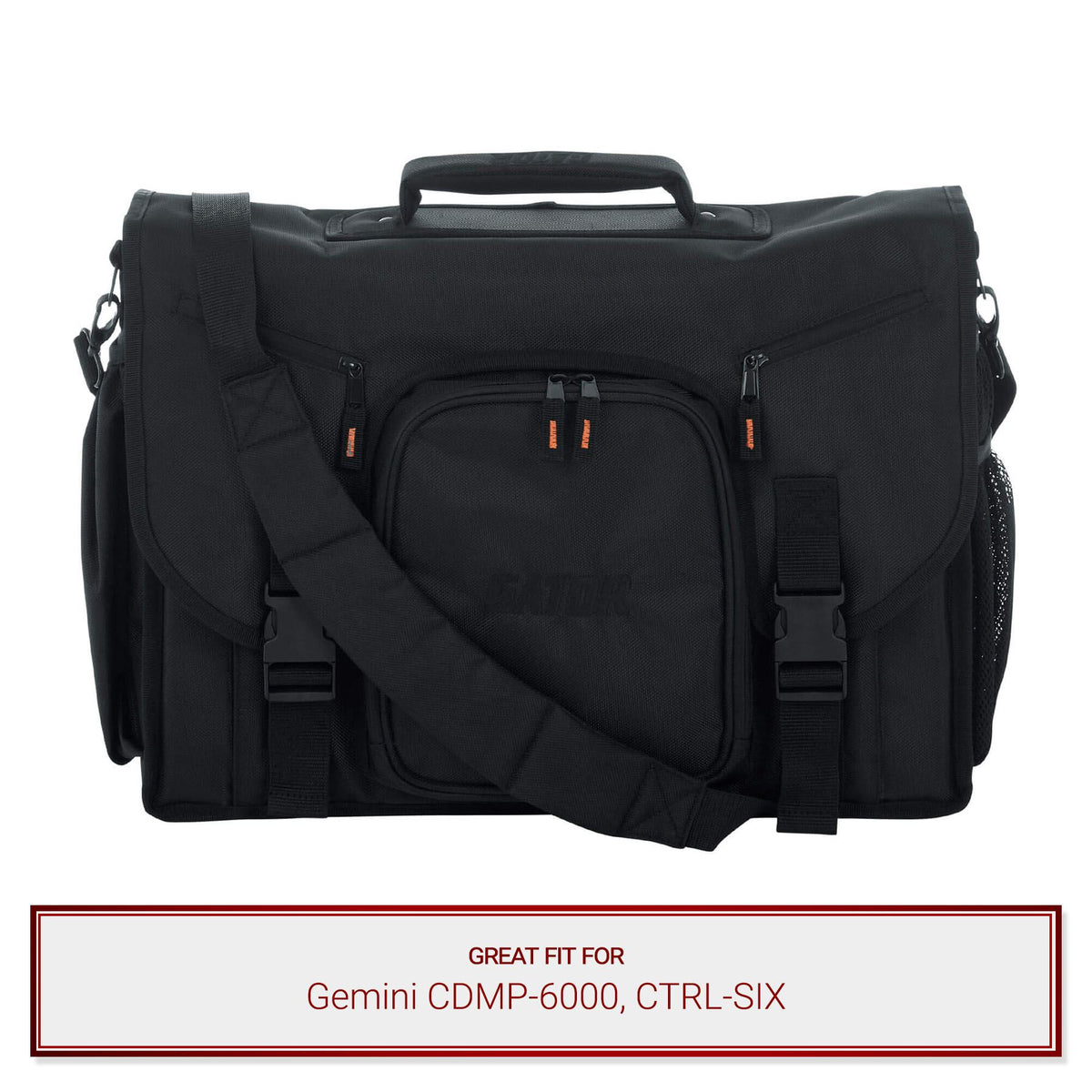 "Gator Cases 19"" Messenger Bag  for Gemini CDMP-6000, CTRL-SIX"