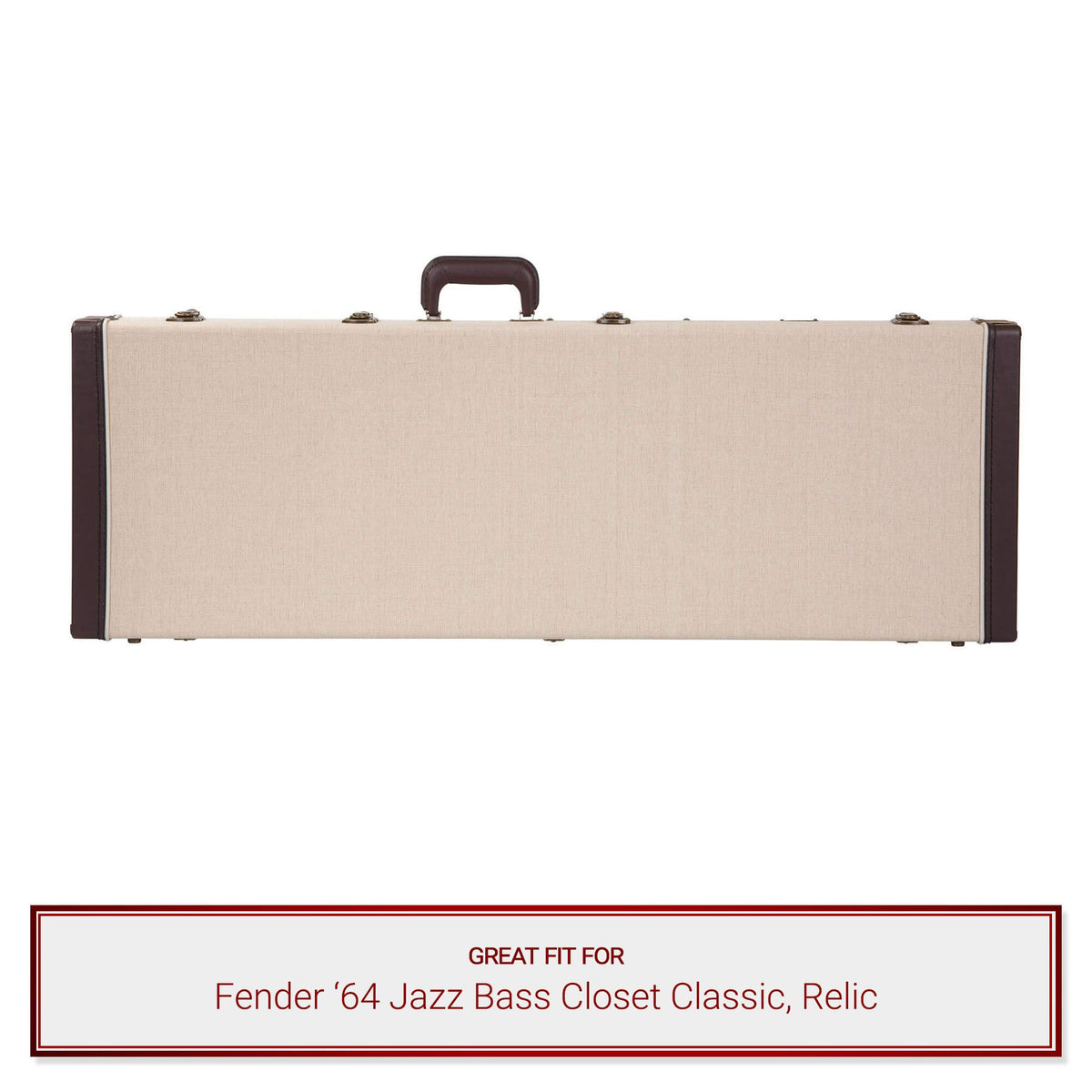 Gator Cases Journeyman Bass Guitar Case for Fender '64 Jazz Bass Closet Classic, Relic Electric Bass Guitars