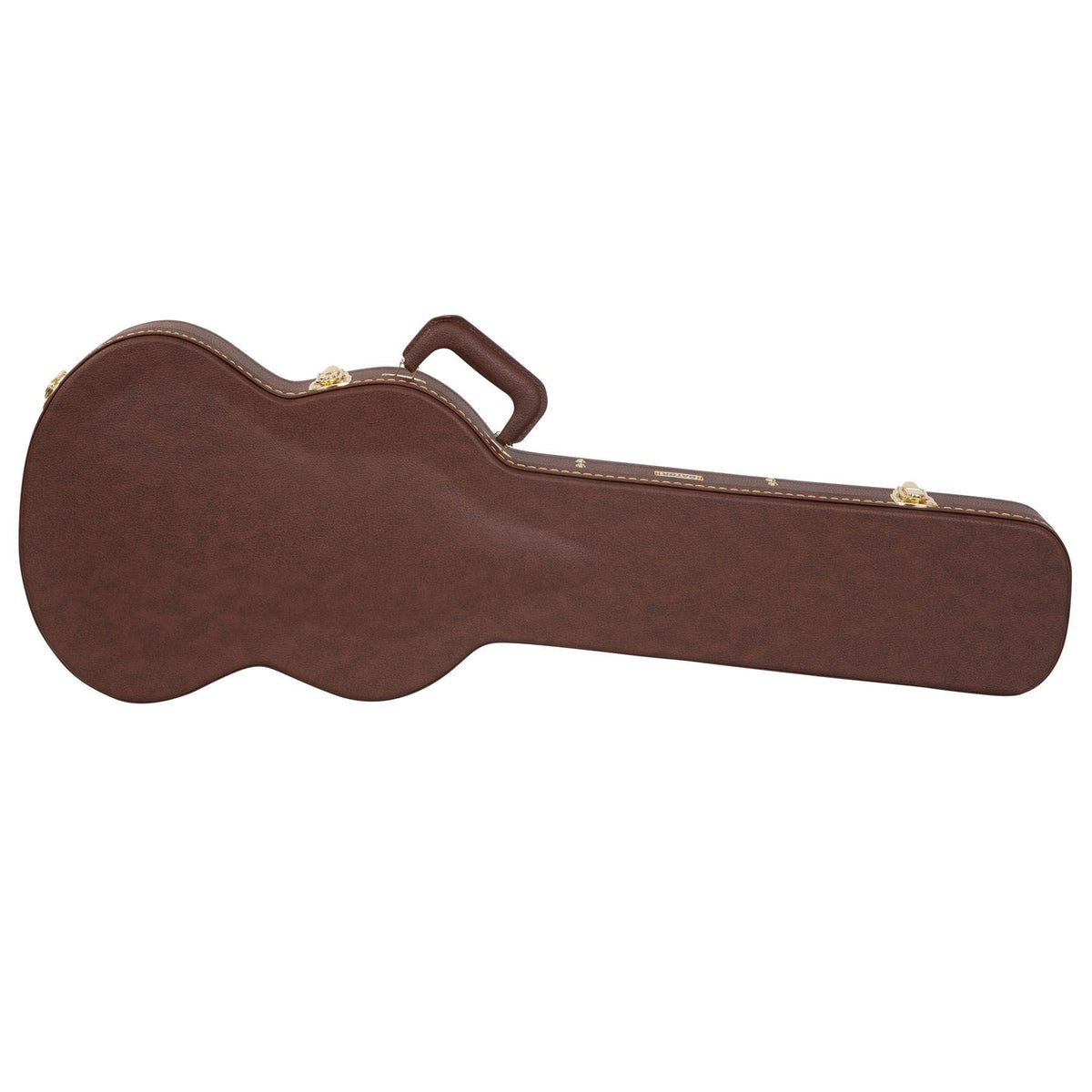 Gator Cases Deluxe Brown Wood Case for Gibson SG '61 Reissue, SG-3, SG Menace Electric Guitars