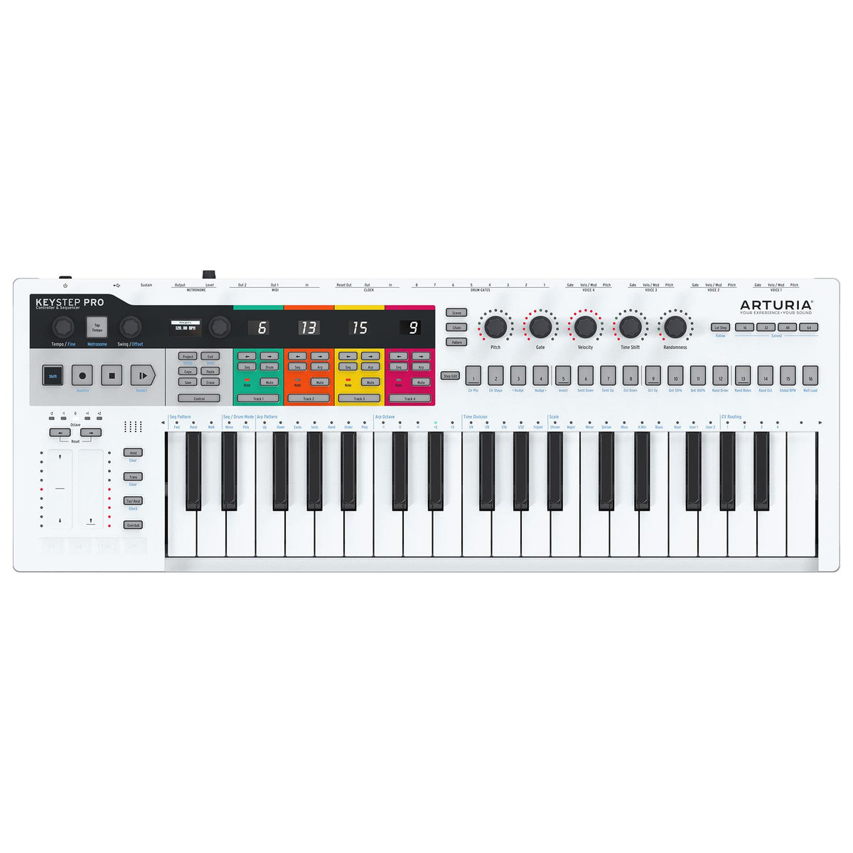 Arturia KeyStep Pro  37-Key USB/MIDI Keyboard Controller & Sequencer