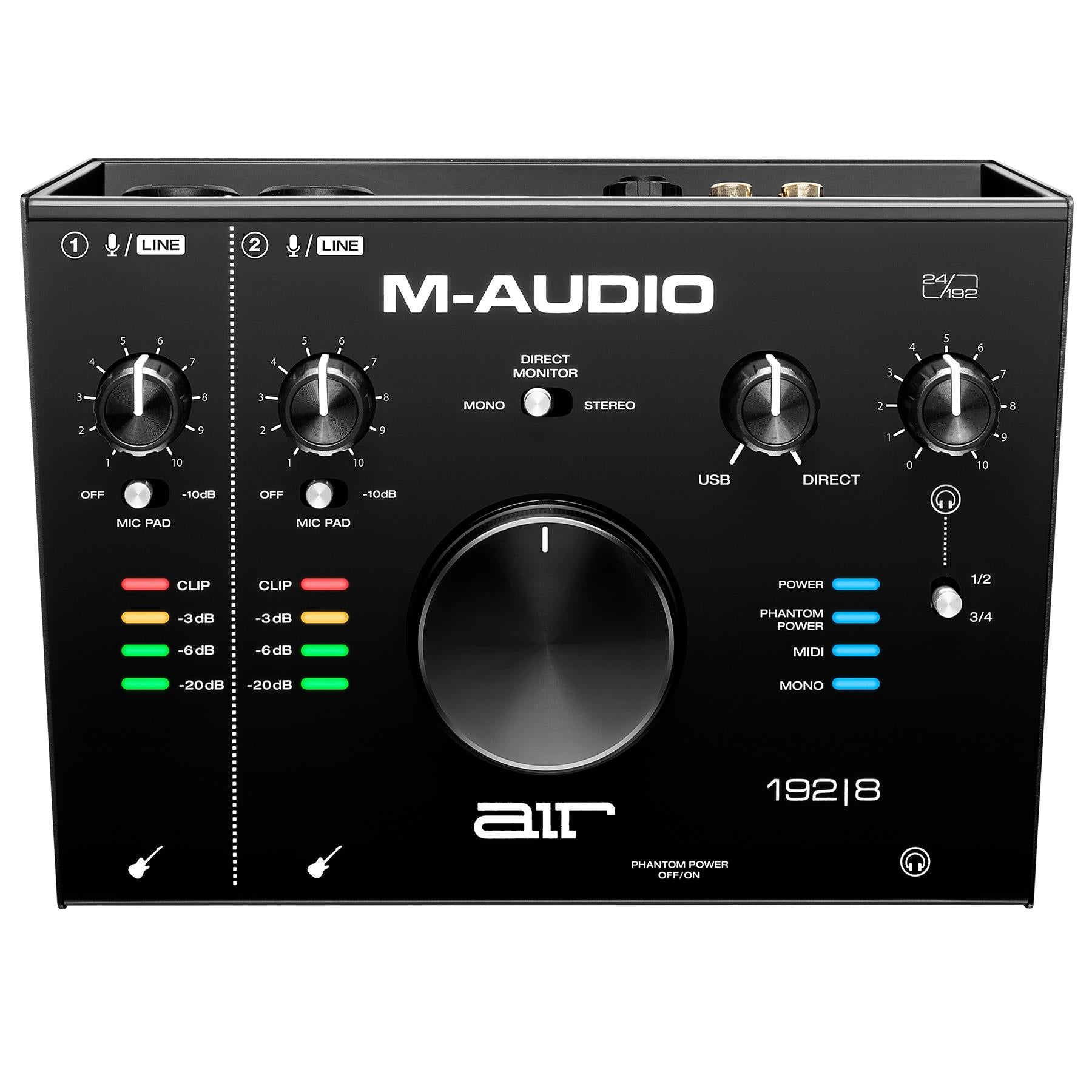 M-Audio Air 192|8 2-In/4-Out 24/192 USB-C Audio/MIDI Interface with ProTools|First and Ableton Live Lite