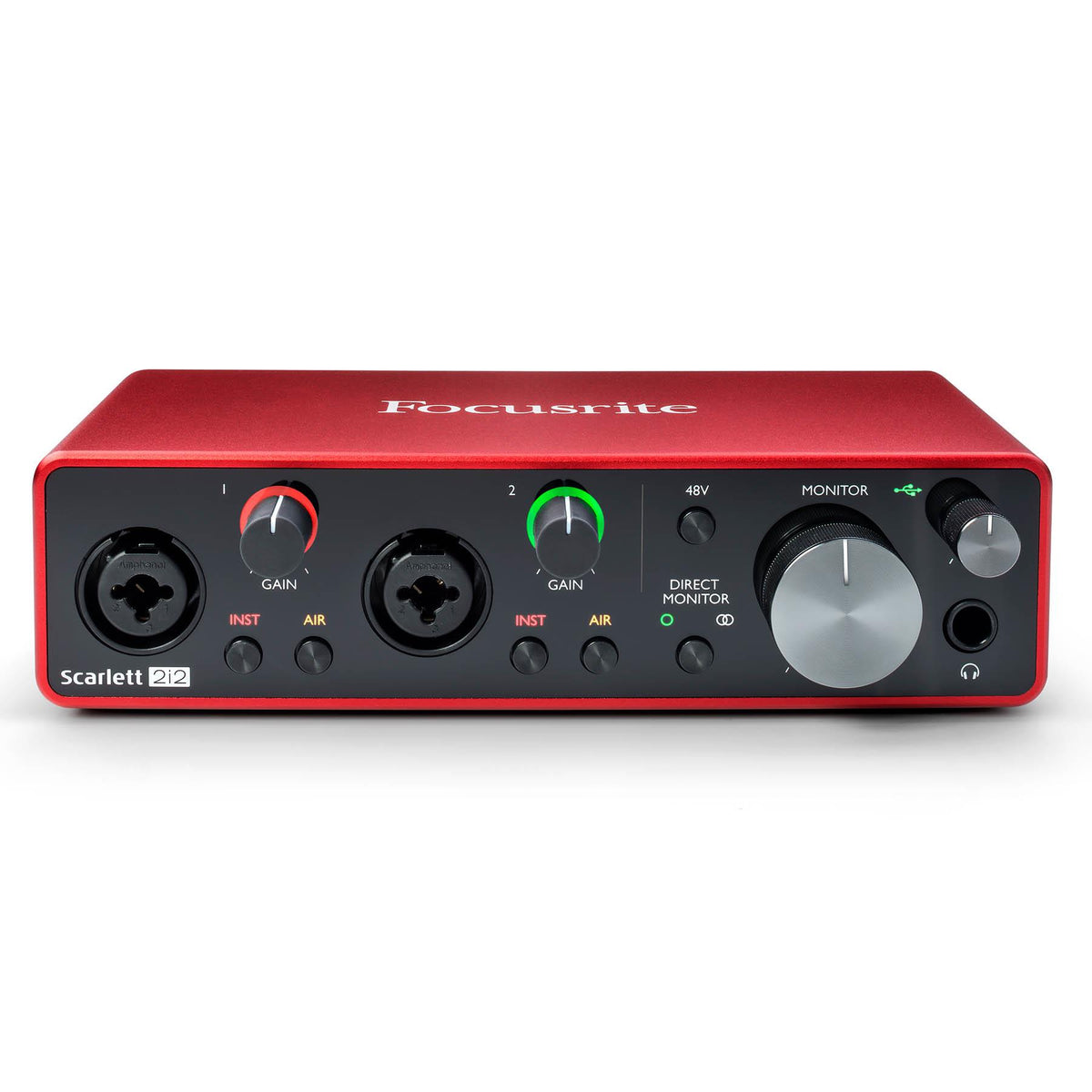Focusrite Scarlett 2i2 Studio 3rd Gen Bundle with 15-foot Mogami XLR Cable