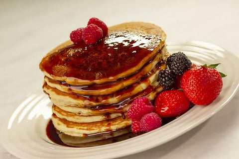 pancakes with date syrup