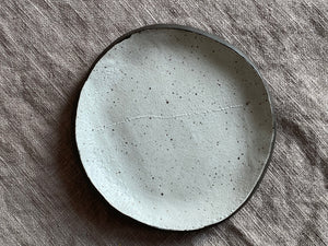 Snack Plate in Dark Brown Stoneware