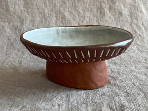 Oval Decorative Pedestal Bowl