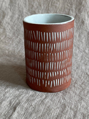 Monday Morning Mug in Red Stoneware