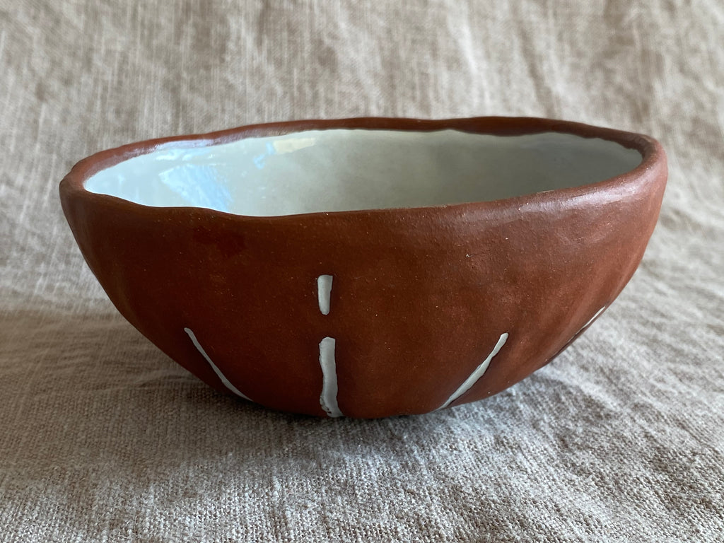 Breakfast Bowl in Red Stoneware