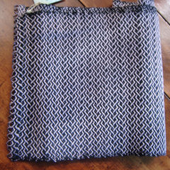 Handwoven Scarf Mercerized Cotton/ Wool